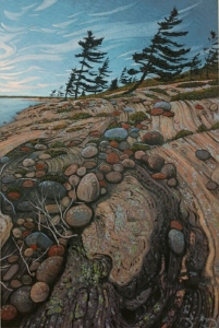 Driftwood And Pines by Mark Berens