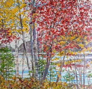 Autumn on the Pond by Michael Zarowsky
