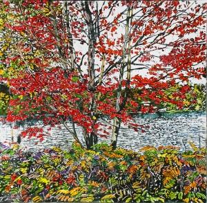 Autumn Pond  by Michael Zarowsky