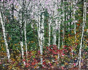Birches and Late Fall Atmospheres by Michael Zarowsky