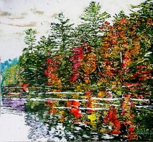 Riverside Autumn Stream by Michael Zarowsky