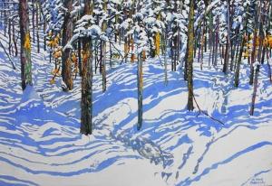 Trail Through Winter 86 by Michael Zarowsky