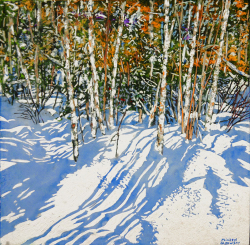 Birches 12 Mile Bay Rd 4 by Michael Zarowsky