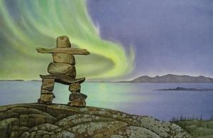 Lighting The Way - Inukshuk by Neil Blackwell