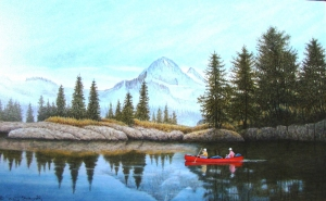 The Red Canoe by Neil Blackwell
