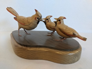 Family of Cardinals Stylized by Al Bonar