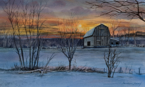 Winter Sunset by Fred Forsey