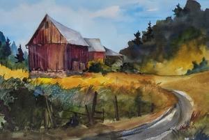 Island Farmstead by Len Harfield
