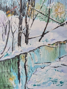 Ice Reflections by Valerie Kent