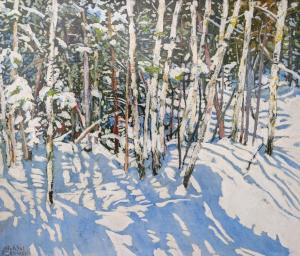 Birches 12 Mile Bay Rd 3 (Georgian Bay) by Michael Zarowsky