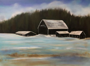 Winter Barns  by Paul Chester