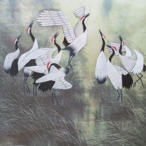 Eight Cranes by Qing Zhang