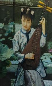 Pipa Girl by Qing Zhang