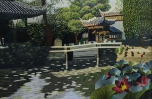 Zu Zhen Garden Large by Qing Zhang
