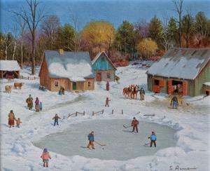 Young Hockey Players by Silvia Armeni