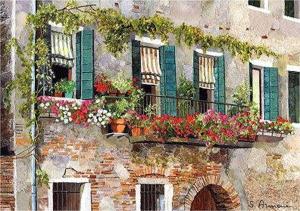 Balcony At Rio Del Trapolin by Silvia Armeni