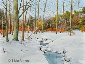 Charming Winter Scene by Silvia Armeni