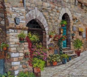 Flowery Lane by Silvia Armeni