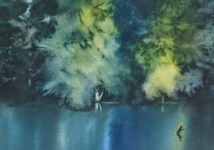 Blue Pond by Taisia Paczkowski