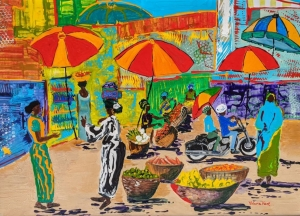 The African Market (the Oja Market) by Valerie Kent
