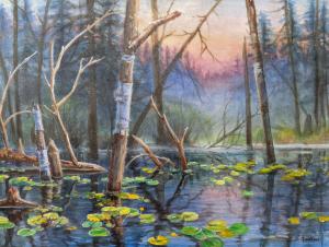 Water Lily Pond by Wee Lee